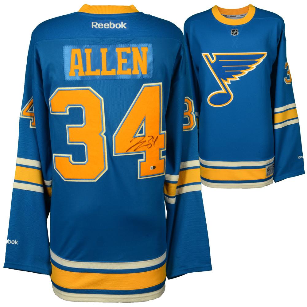 on sale d29c6 2dbb6 Jake Allen St. Louis Blues Autographed 2017 Winter Classic ...