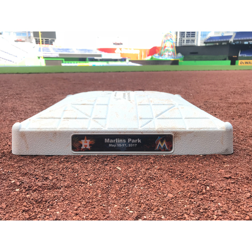 Game-Used Base: Marlins vs Astros - 5/16/17