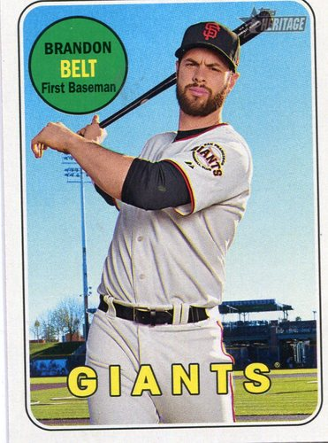 Photo of 2018 Topps Heritage #319 Brandon Belt