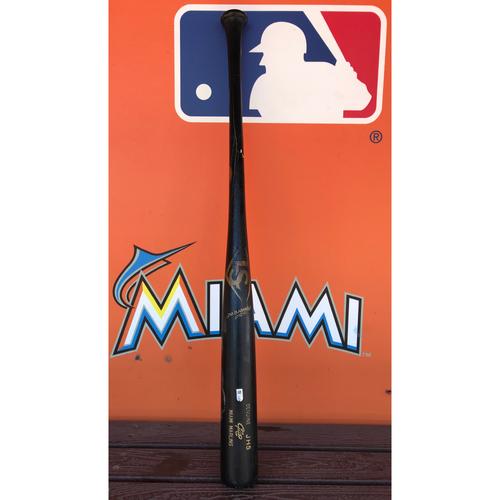 Photo of Game-Used Broken Bat: J.T. Riddle (Rookie Season)