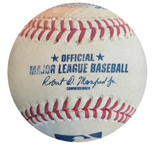 Photo of Game-Used Baseball from Pirates vs. Cubs on 9/16/15 - Tommy La Stella Single