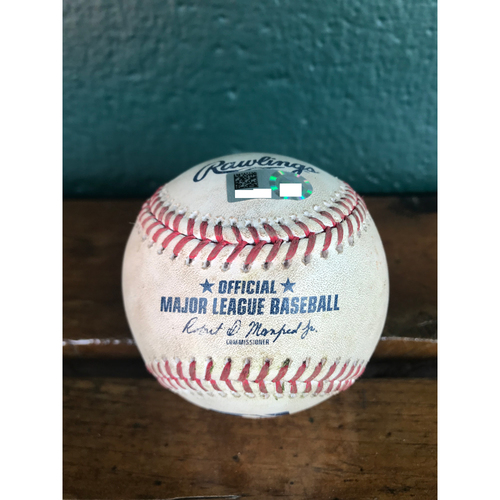 Cardinals Authentics: Game-Used Baseball Pitched by Mike Clevinger to Matt Carpenter *Double* *10,000 Win*