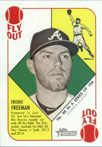 Photo of 2015 Topps Heritage '51 Collection #88 Freddie Freeman