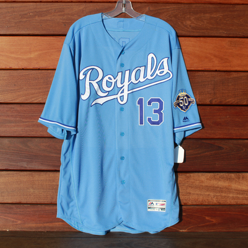 Photo of Game-Used Jersey: Salvador Perez (Size 48 - MIN @ KC - 9/16/18)
