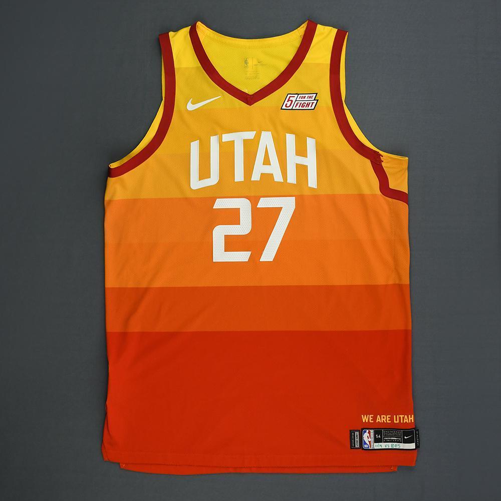 brand new d12b2 9015b Rudy Gobert - Utah Jazz - Game-Worn City Edition Jersey ...