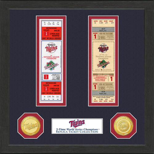Photo of Minnesota Twins World Series Ticket Collection