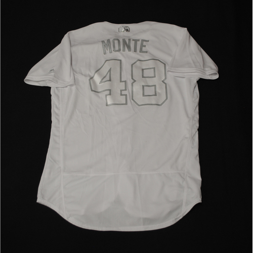 "Photo of Rafael ""MONTE"" Montero Texas Rangers Game-Used 2019 Players' Weekend Jersey"