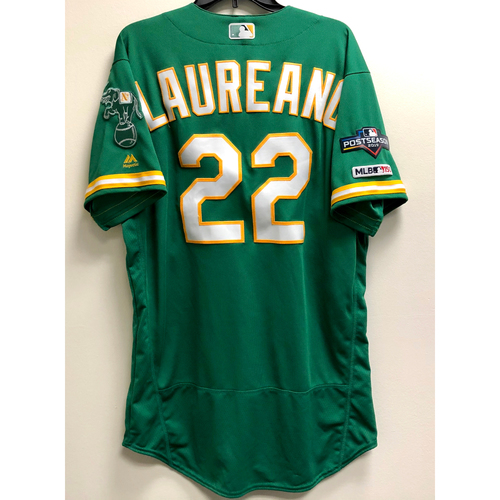 Photo of Ramon Laureano Game-Used 2019 A.L. Wild Card Jersey w/ Postseason Patch