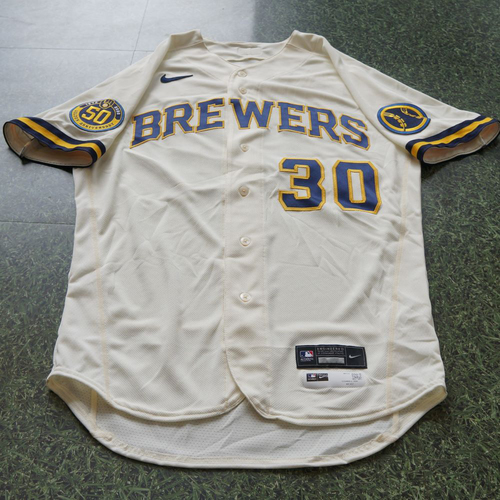 Photo of Craig Counsell Game Used Jersey Opening Day 2020 - 8/3/2020