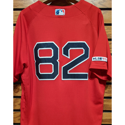 Photo of Coach Tom Goodwin #82 Game Used Red Home Alternate Jersey
