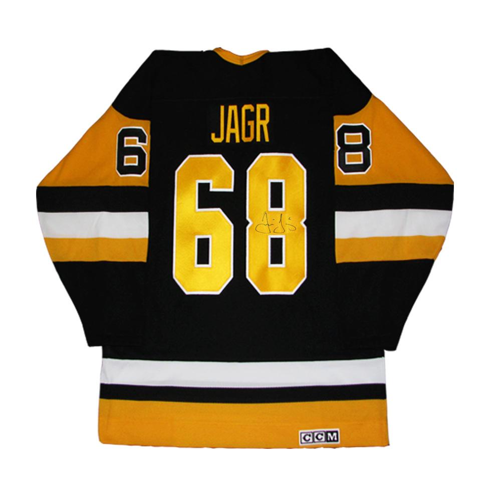 JAROMIR JAGR Signed Pittsburgh Penguins Black CCM Vintage Jersey