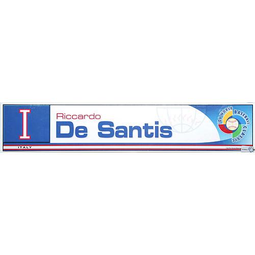 Photo of 2006 Inaugural World Baseball Classic: Riccardo De Santis Locker Tag (ITA) Game-Used Locker Name Plate