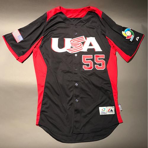 2013 World Baseball Classic Jersey - USA Jersey, Tim Collins #55