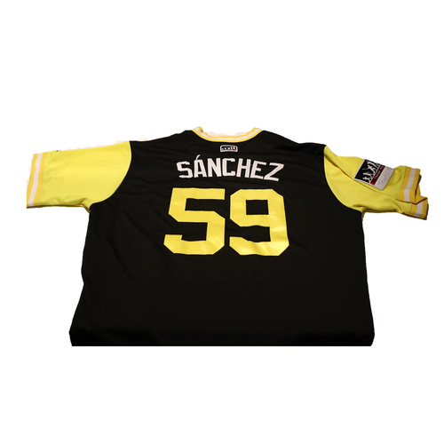 "Photo of Angel ""Sanchez"" Sanchez Pittsburgh Pirates Game-Used Players Weekend Jersey"