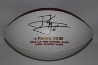 49ERS - FRANK GORE LASER INSCRIBED PANEL BALL W/ 49ERS LOGO (49ERS ALL-TIME RUSHING LEADER 10000+ RUSHING YARDS) LIMITED EDITION OF 504