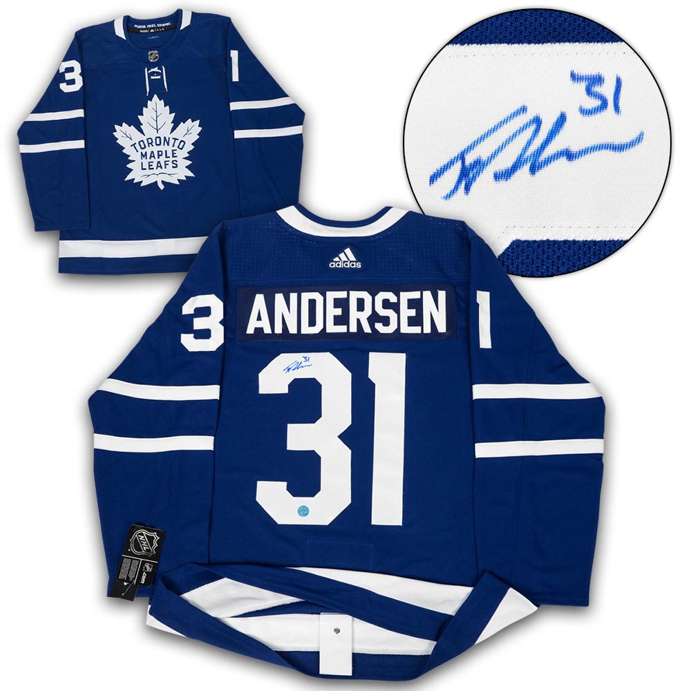 Frederik Andersen Toronto Maple Leafs Autographed Adidas Authentic Hockey Jersey