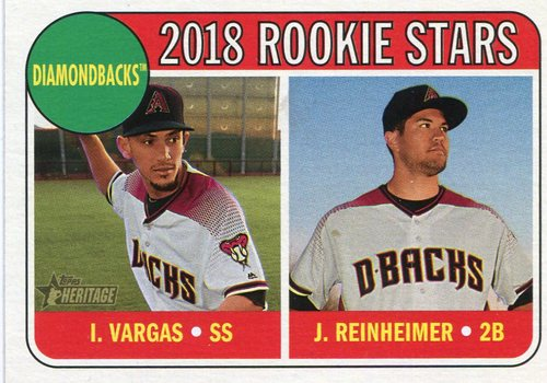 Photo of 2018 Topps Heritage #323 Jack Reinheimer RC/Ildemaro Vargas RC