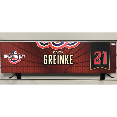 Photo of 2018 Zach Grienke Opening Day Nameplate