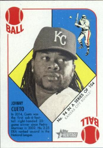 Photo of 2015 Topps Heritage '51 Collection #94 Johnny Cueto