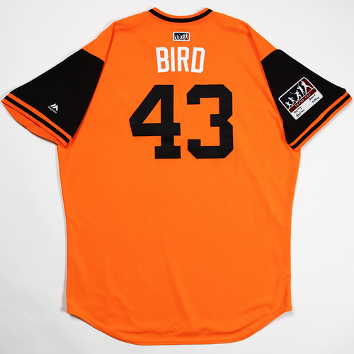 "Photo of Mike ""Bird"" Wright, Jr. Baltimore Orioles Game-Used 2018 Players' Weekend Jersey"