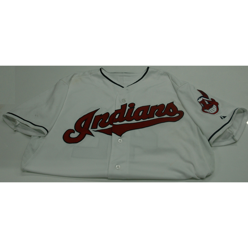Photo of Cleveland Indians Jason Giambi 2013 Game Used Jersey - 4/16/13 vs. Red Sox