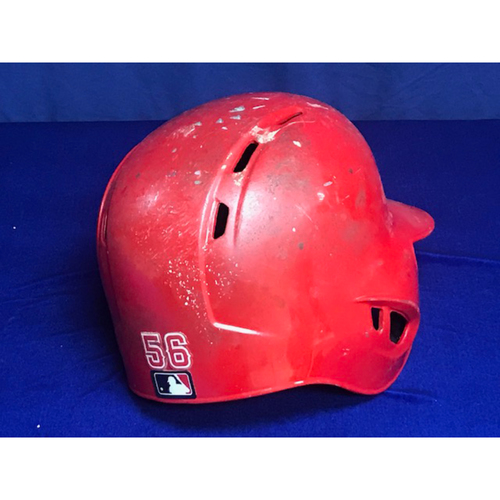 Photo of Kole Calhoun Game Used 2018 Helmet