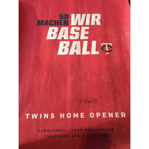 "Photo of ""So Machen Wir Baseball"" Poster"