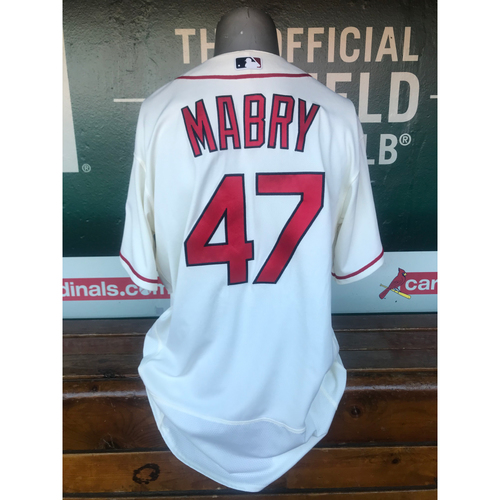 Photo of Cardinals Authentics: Game Worn John Mabry Saturday Alternate Ivory Jersey