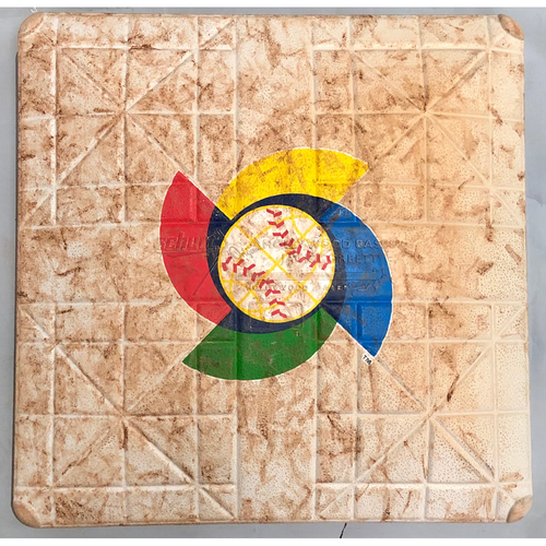 Photo of 2017 World Baseball Classic Game Used Base- 1st Base (Innings 1-5) (United States at Dominican Republic)