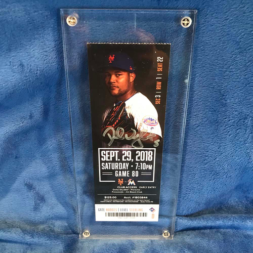 Photo of UMPS CARE AUCTION: Framed, Signed Ticket from David Wright's Last Game
