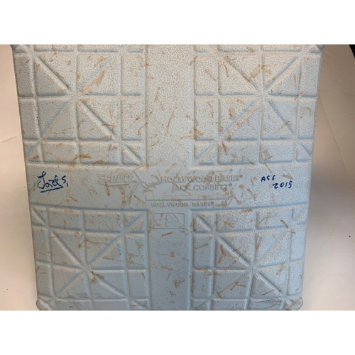 Photo of Jose Iglesias Autographed Game-Used Base vs. New York Yankees