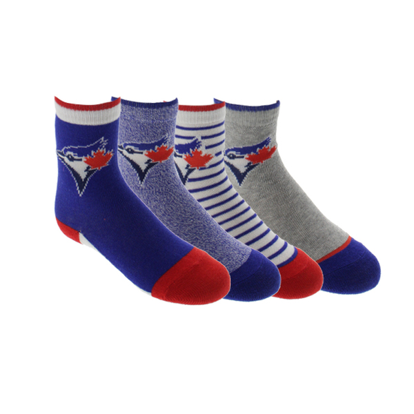 Toronto Blue Jays Toddler 4 Pack of Crew Socks by Gertex