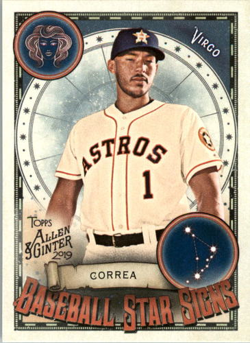 Photo of 2019 Topps Allen and Ginter Baseball Star Signs #BSS12 Carlos Correa