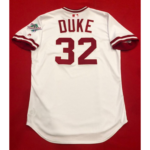 Photo of Zach Duke -- Team Issued 1990 Throwback Jersey -- Cardinals vs. Reds on Aug. 18, 2019 -- Jersey Size 46