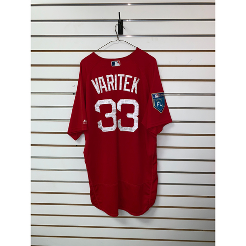 Photo of Jason Varitek Team Issued 2018 Spring Training Jersey