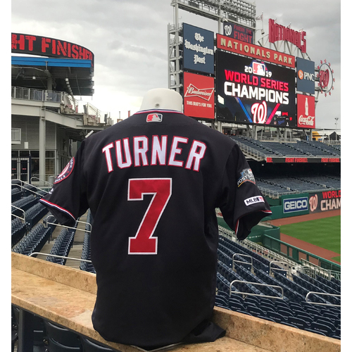 Photo of 2019 NLDS/NLCS Game-Used Jersey: Trea Turner