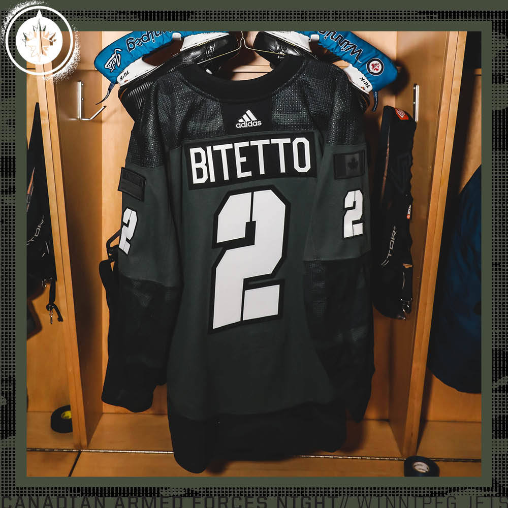 ANTHONY BITETTO  Warm Up Issued Canadian Armed Forces Jersey