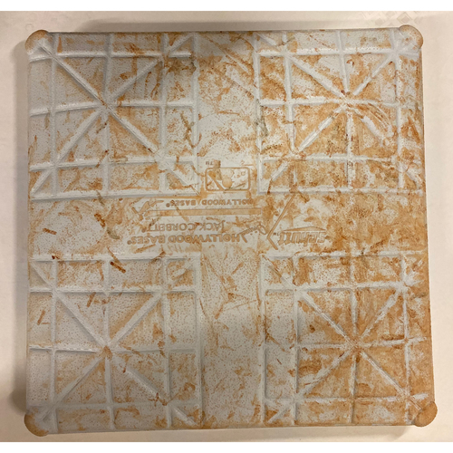 Photo of 2019 NLDS Game Used Base - Third Base Used During 8th and 9th Inning - 10/3/19