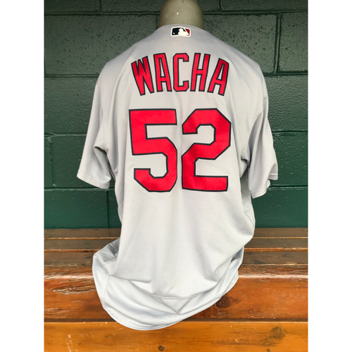 Photo of Cardinals Authentics: Game Worn Michael Wacha Road Grey Post Season Jersey