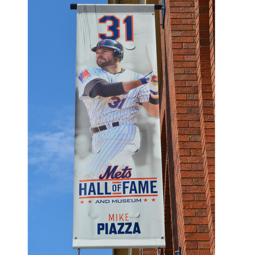 Mike Piazza #31 - Mets Hall of Fame and Museum Citi Field Banner - 2019 Season
