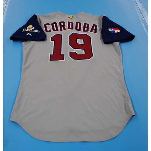 Photo of 2006 Inaugural World Baseball Classic: Johnny Cordoba Game-worn Team Panama Road Jersey