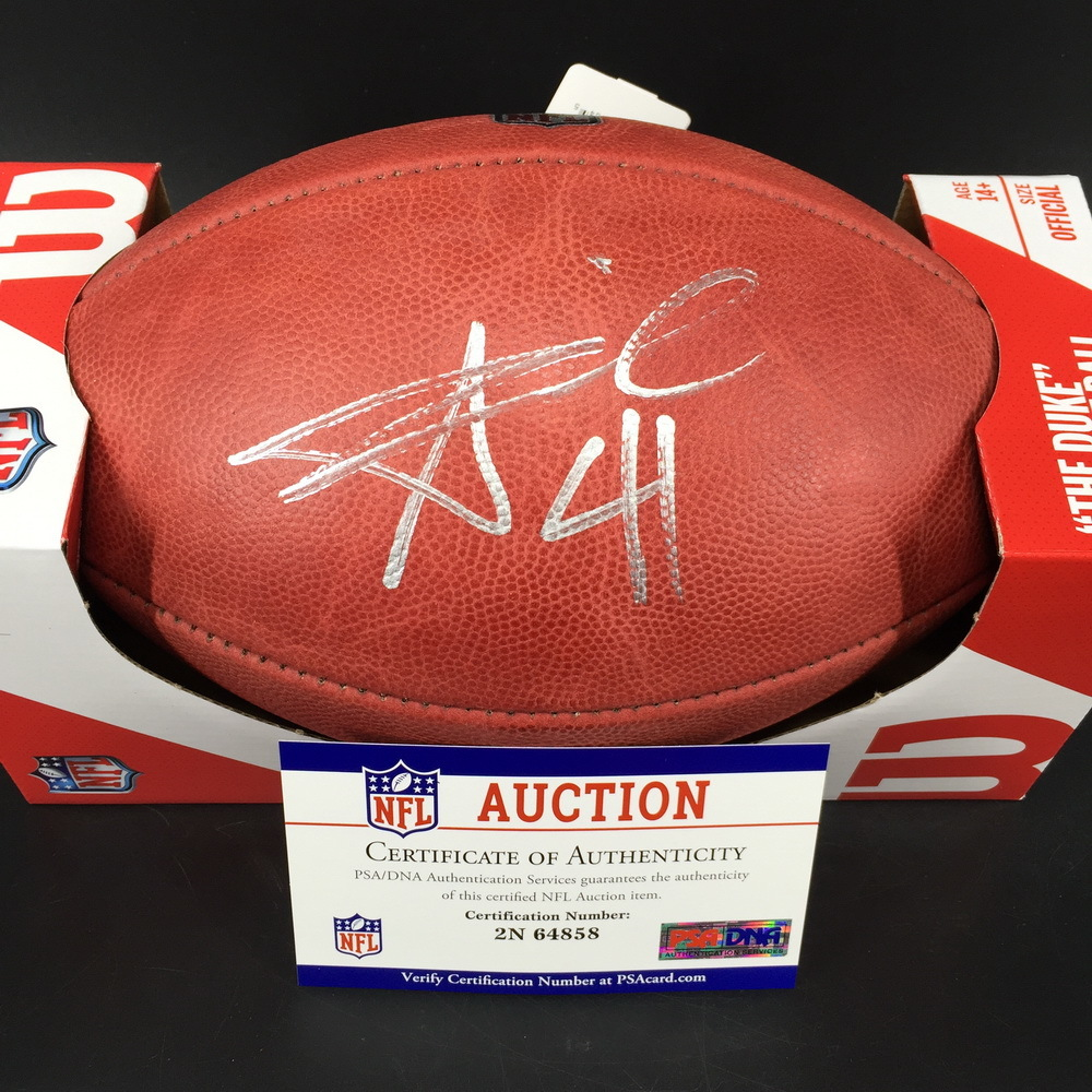 NFL - Saints Alvin Kamara Signed Authentic Football w/ 100 seasons logo