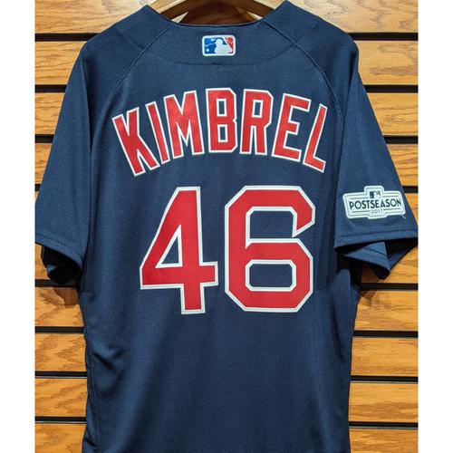 Craig Kimbrel #46 Game Used Navy Road Alternate Jersey