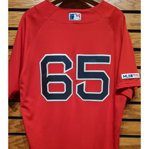 Ryan Weber #65 Game Used Red Home Alternate Jersey