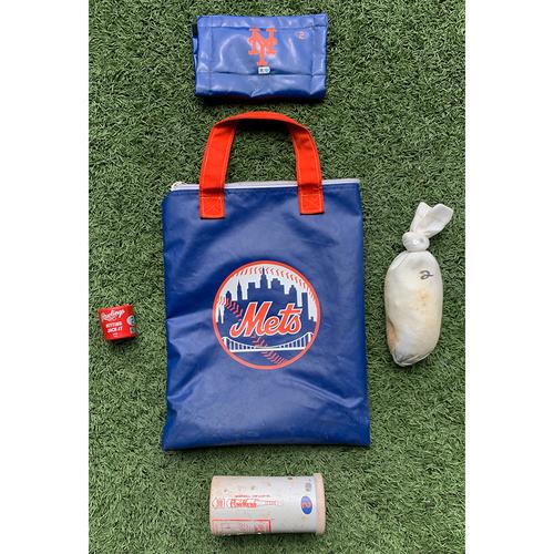 Photo of Mets On Deck Circle Bag - #2 - 2020 Season - Includes Rosin Bag, Bat Weight, Pine Tar Rag