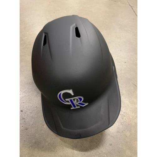 Photo of 2021 MLB Draft Used Helmet: Colorado Rockies