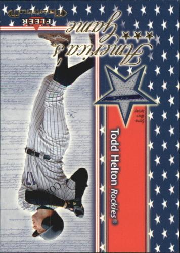 Photo of 2002 Fleer Maximum Americas Game Jersey #9 Todd Helton