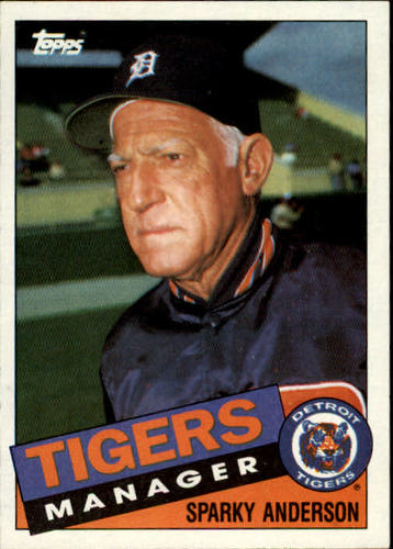 Photo of 1985 Topps #307 Sparky Anderson MG