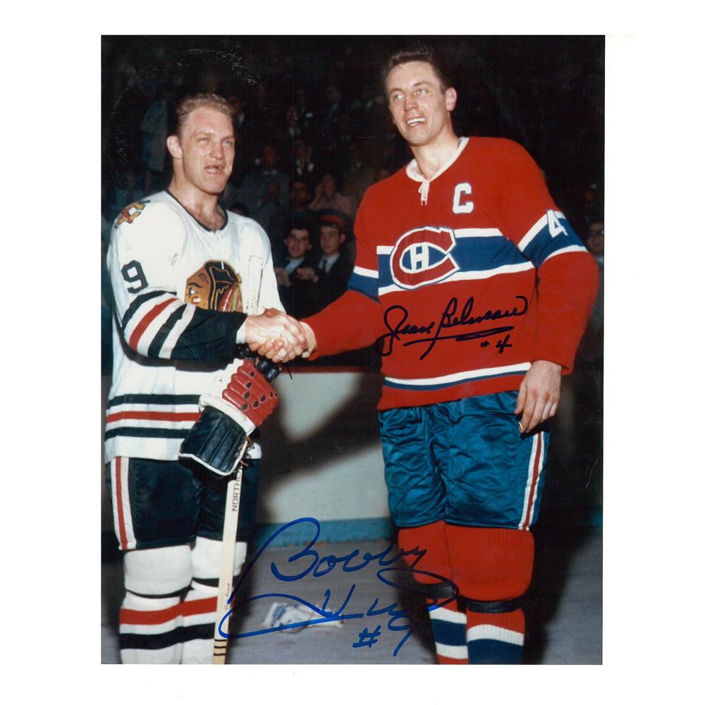 BOBBY HULL & JEAN BELIVEAU Signed Vintage 8 X 10 Photo - 70161