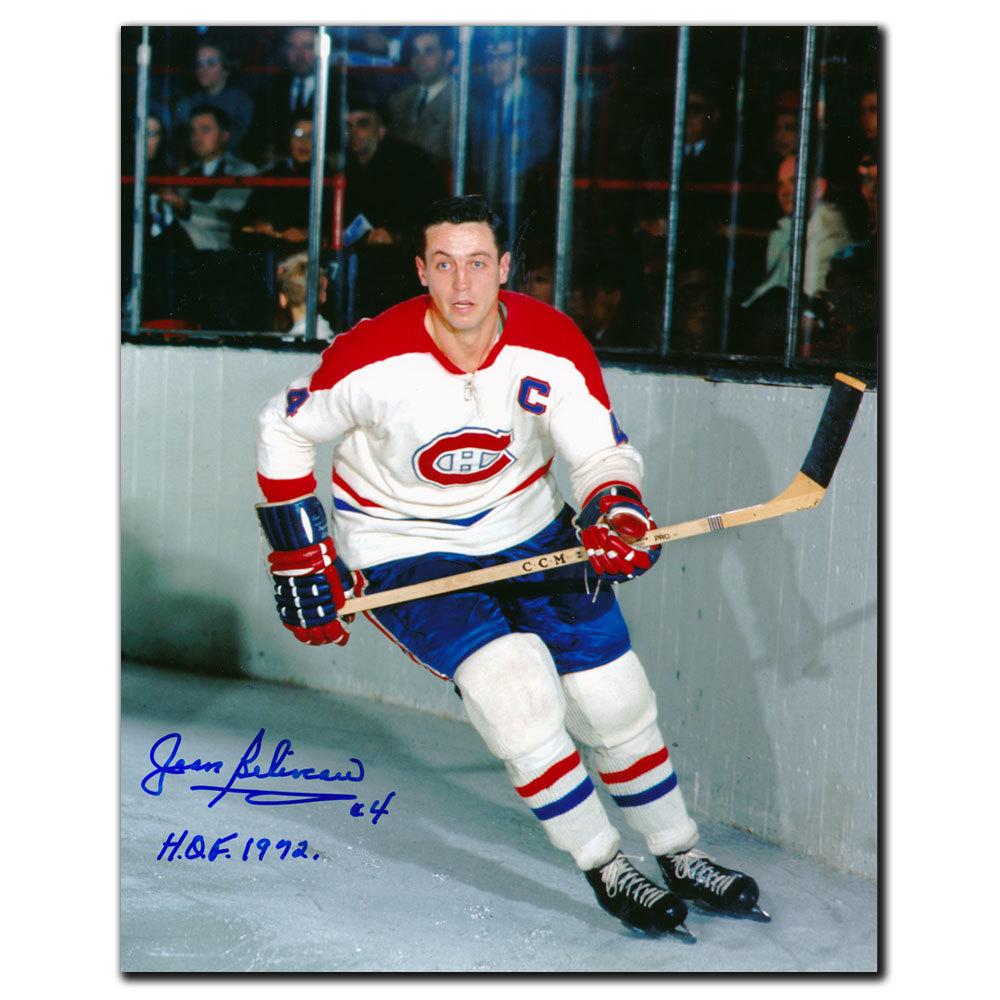 Jean Beliveau Montreal Canadiens HOF Autographed 8x10